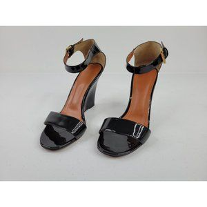 Mulberry Black Wedge Sandals